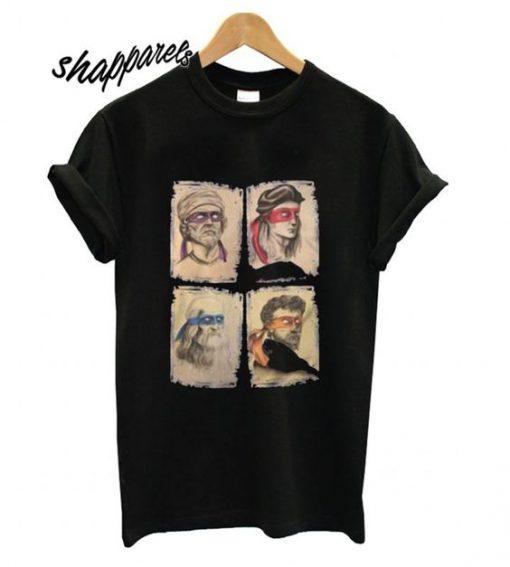 Donatello, Raphael, Leonardo and Michelangelo shirt