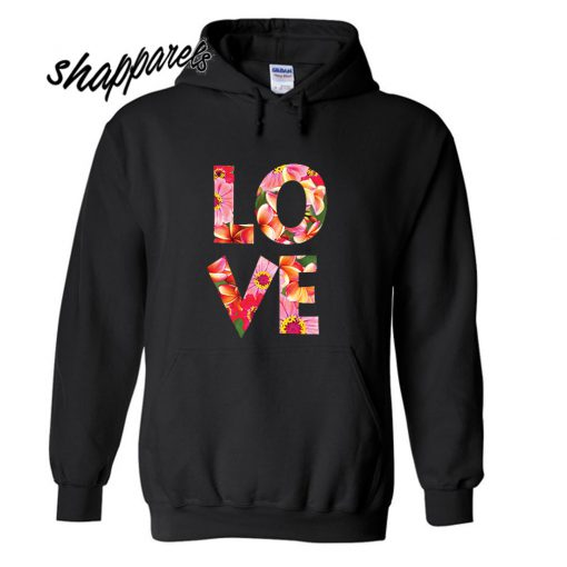 Love Flowers Stacked Hoodie