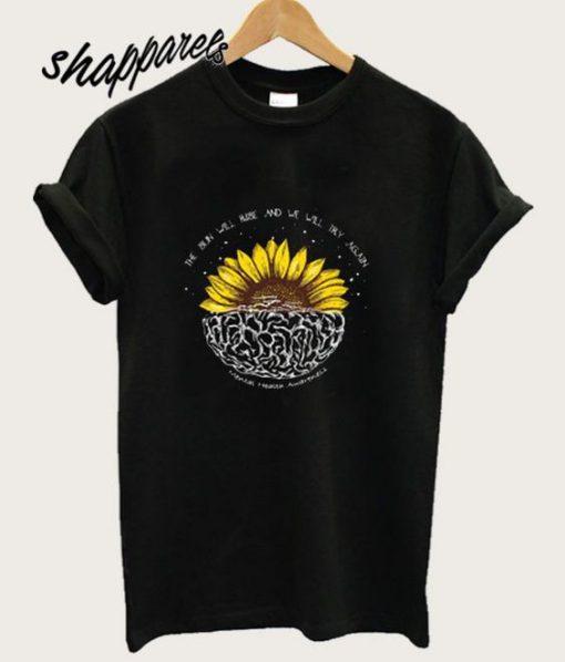 Mental Health Awareness Sunflower T shirt