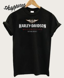 Harley Davidson Motorcycles Established T-Shirt