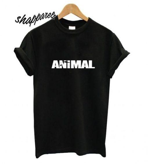 animal font t-shirt