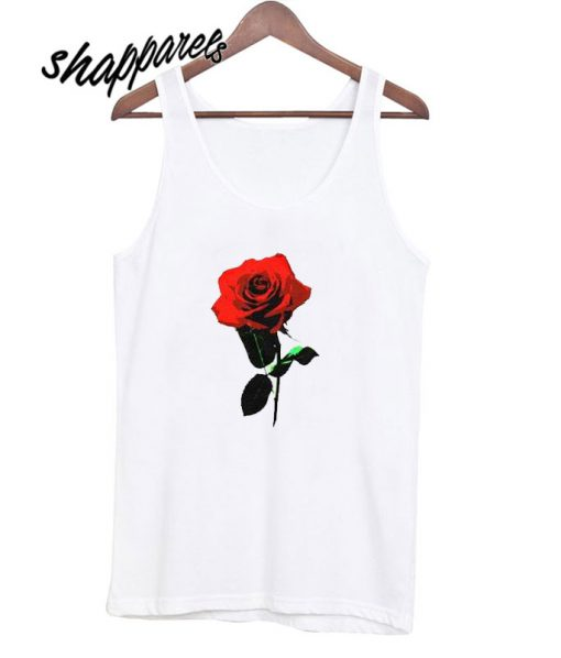Beauty Red Rose Tank top