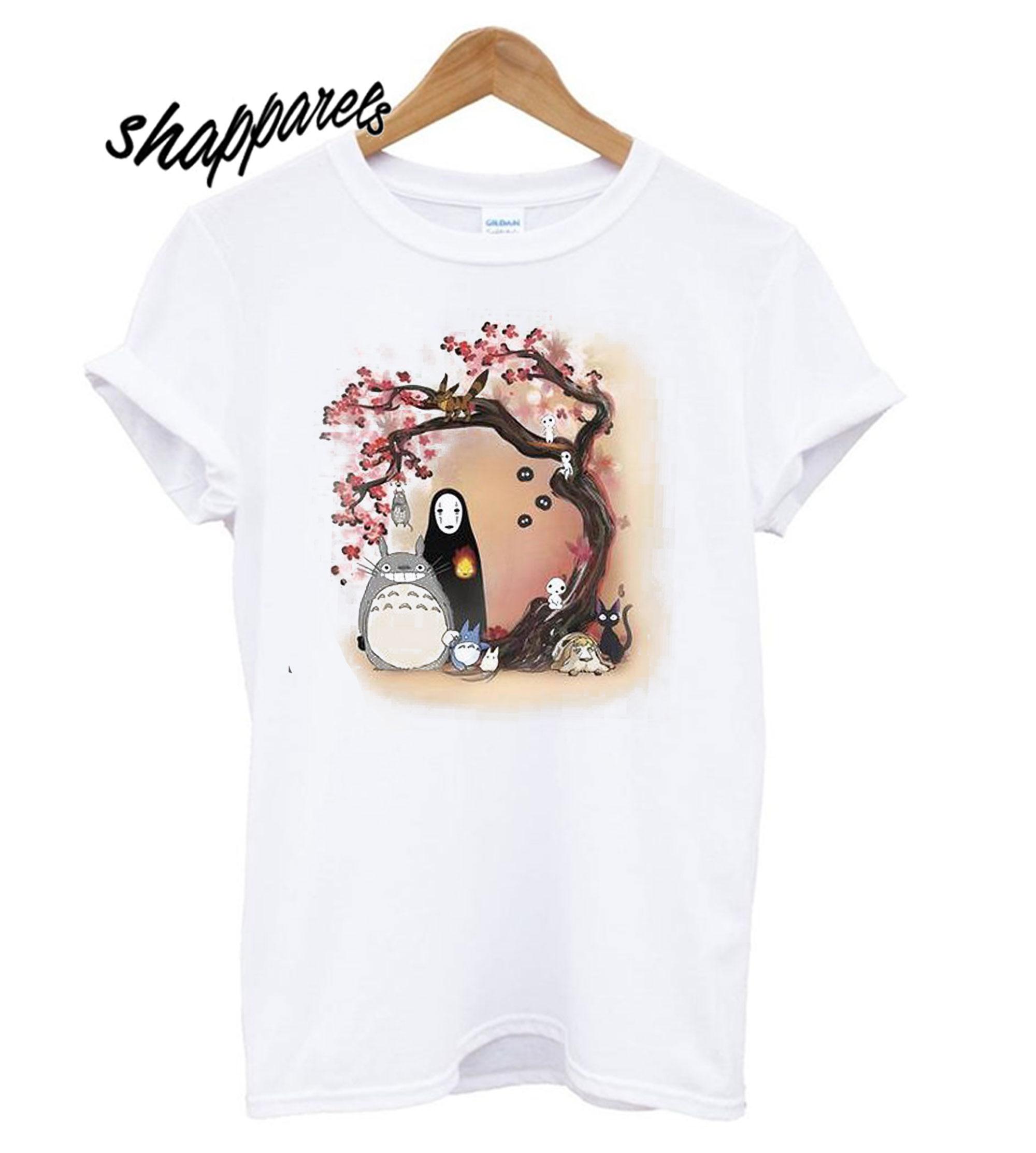 Studio T Scene Totoro Ghibli Character Shirt A35RjL4