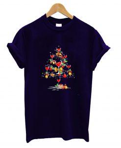Wine Christmas Tree T shirt