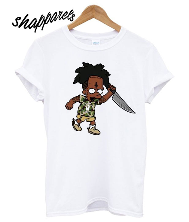 21 Savage Simpson Kill By Knife T Shirt