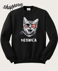 4th of July Meowica Women's Sweatshirt