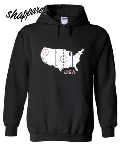 American Ice Hockey Map Hoodie
