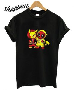Baby Pikachu Pokemon and Deadpool New T shirt