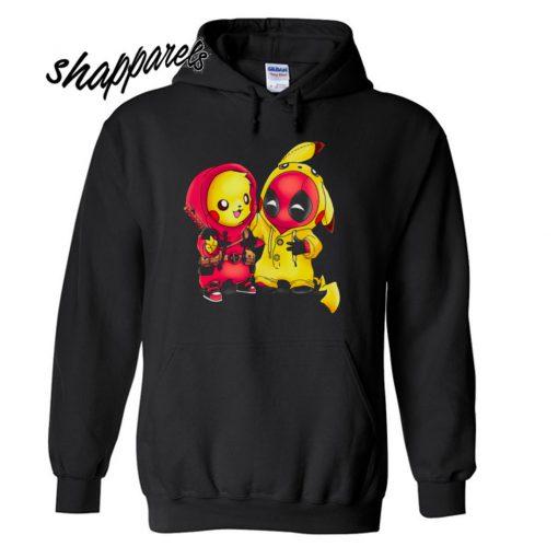 Pikapool Pokemon and Deadpool Hoodie