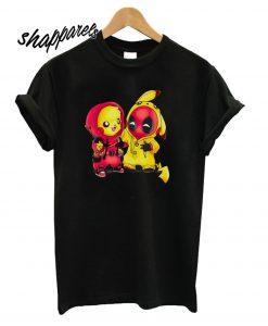 Pikapool Pokemon and Deadpool T-Shirt