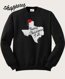 Texas Merry Christmas Yall Sweatshirt