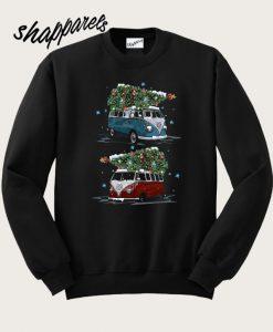 Volkswagen Kombi Carrying Christmas tree Sweatshirt