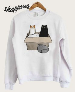 4 Cats in a Box Sweatshirt