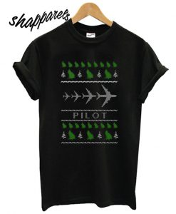 Aircraft Pilot Christmas ugly T shirt