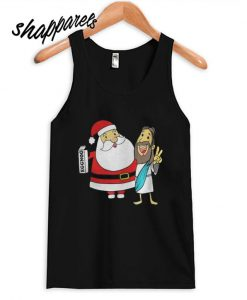 Eggnog Santa And Jesus Christmas Tank top