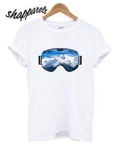 Ski Goggles Mountain View T shirt