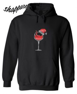 Wine Glass Christmas Glitter Hoodie
