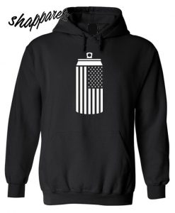 American Flag Beer Can Drinking Hoodie