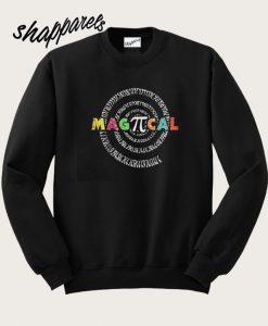 Student Graduate Magical Pi Day Spiral Numbers Sweatshirt