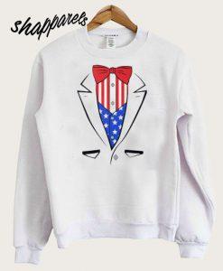 Tuxedo American Flag Independence Day Sweatshirt
