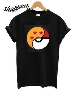 A black dragon ball pokemon T shirt