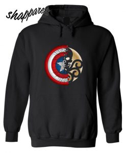 Captain America Harajuku Spider Skull Hoodie