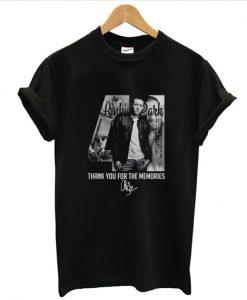 41 Chester Bennington Age Linkin Park Thank For The Memories T shirt