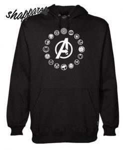 Avengers Members Symbols Endgame Hoodie