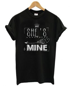 She's Mine Arrow Black Adult T shirt
