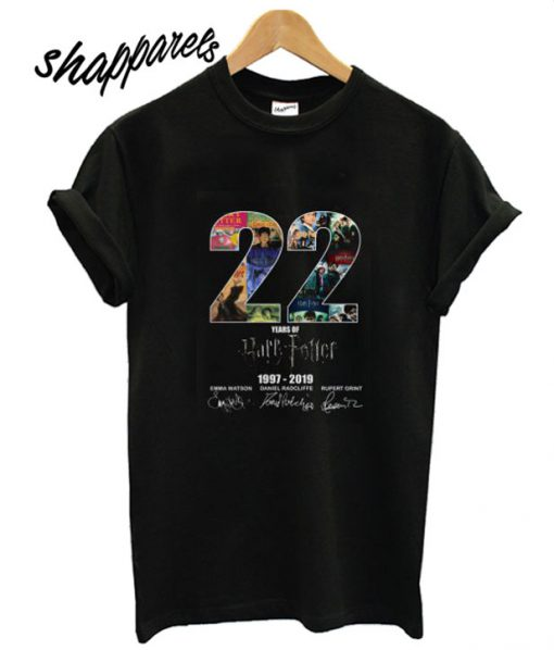 22 Years Of Harry Potter 1997 2019 Signature T shirt