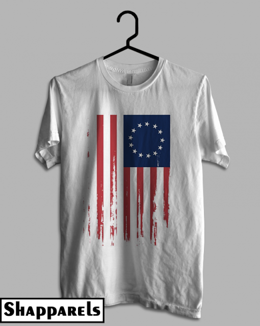 4th of July Betsy Ross 13 Colonies American Flag T shirt