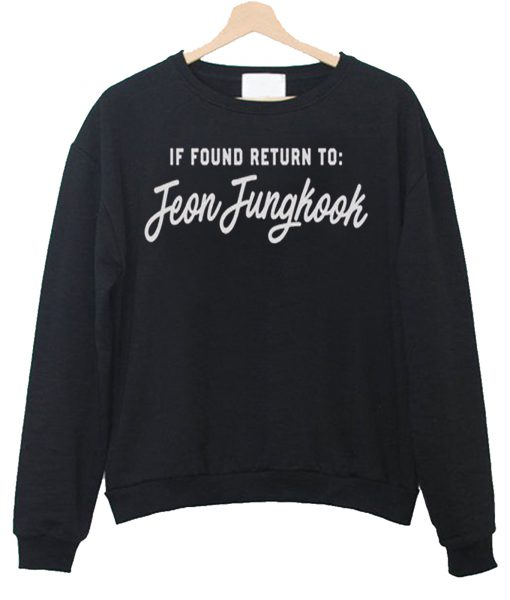 If Found Return To Jeon Jungkook Hoode