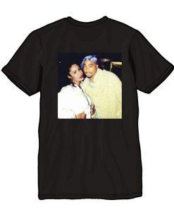 Tupac and Selena Quintanilla T shirt back