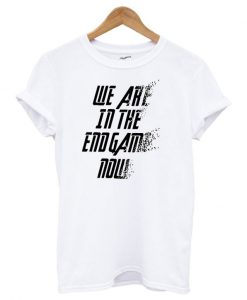 We Are In The Endgame Now Dusting Effect T-Shirt