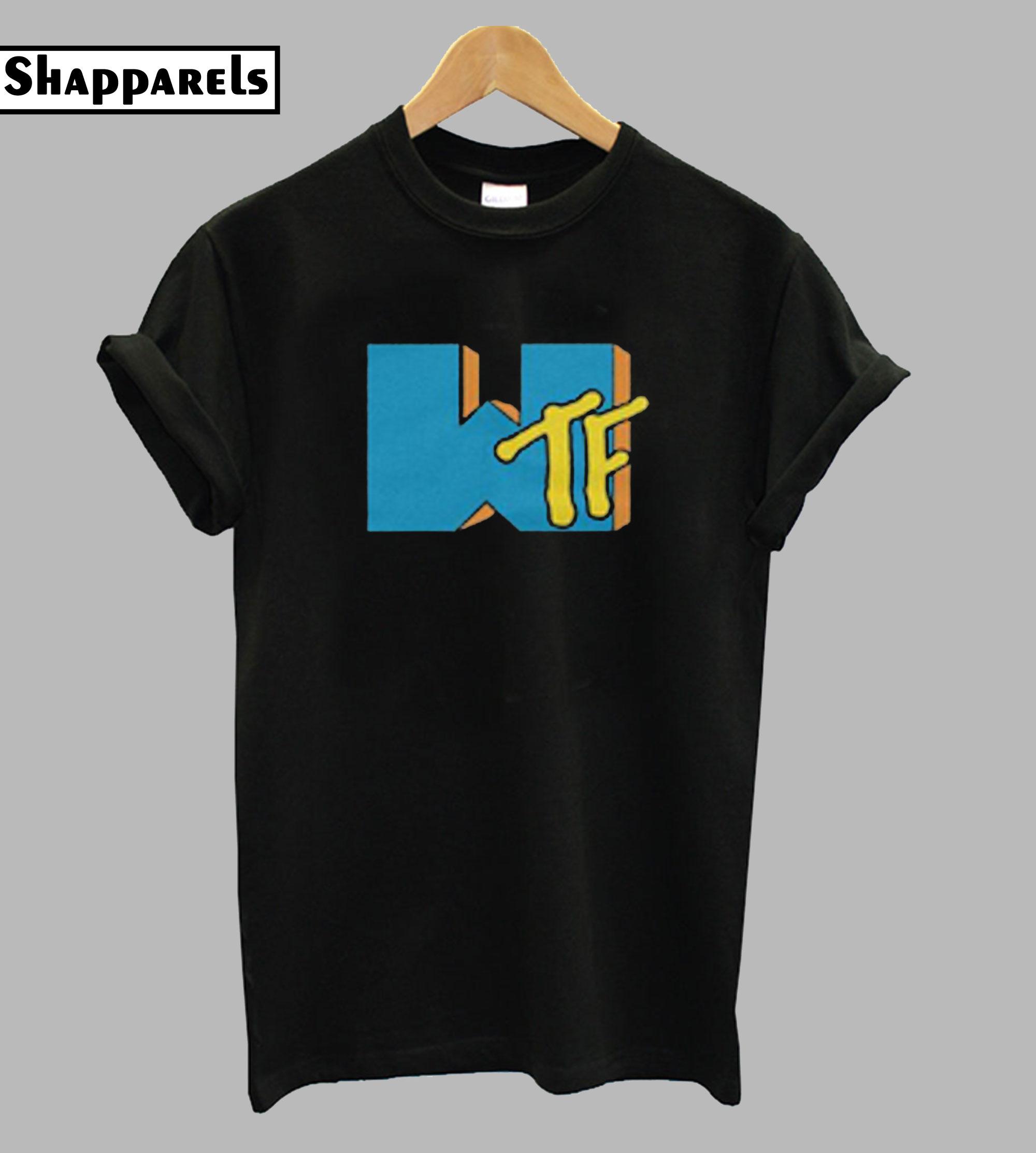 What the Fuck MTV Parody Logo Tshirt