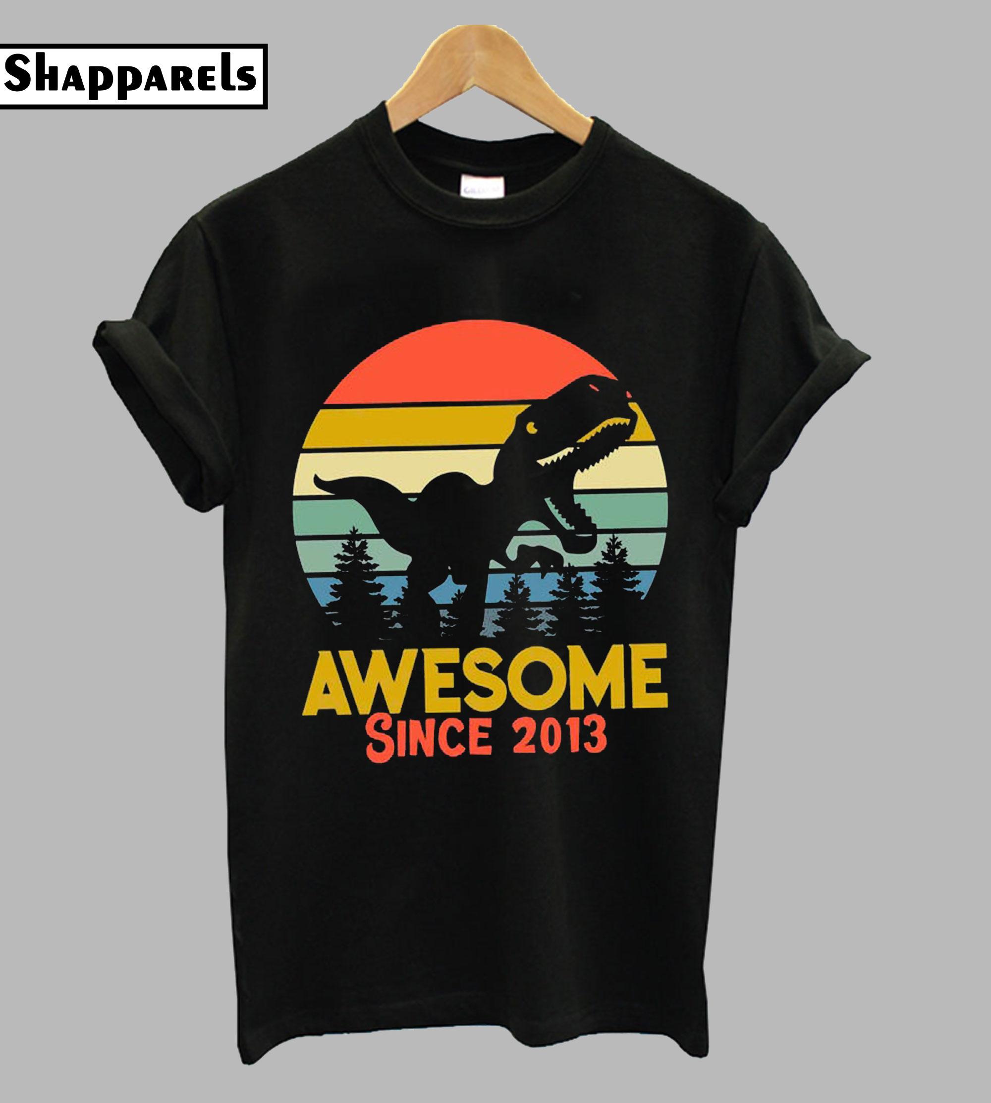6th Birthday Gift Shirt Dinosaurus T-Shirt