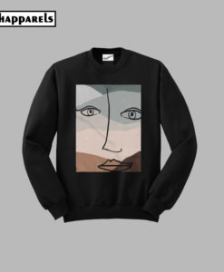 Abstract Graphic rinted Sweatshirt