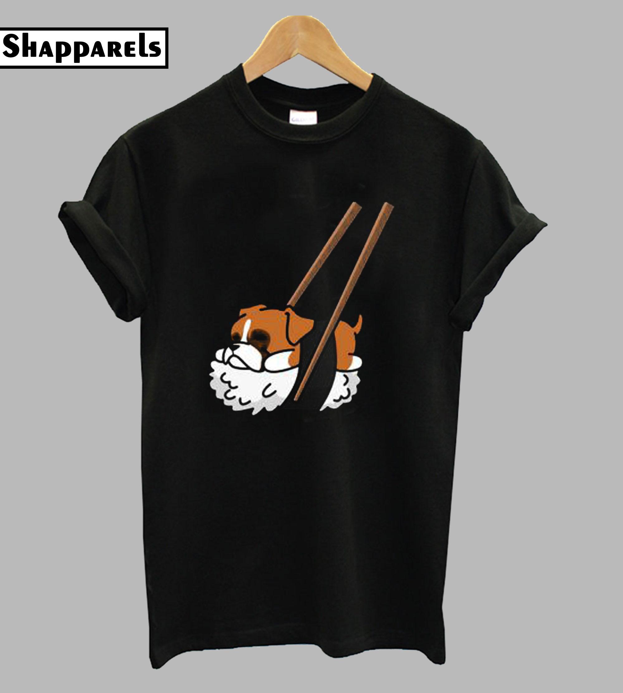 Funny Sushi Boxer Runway Trending T-Shirt