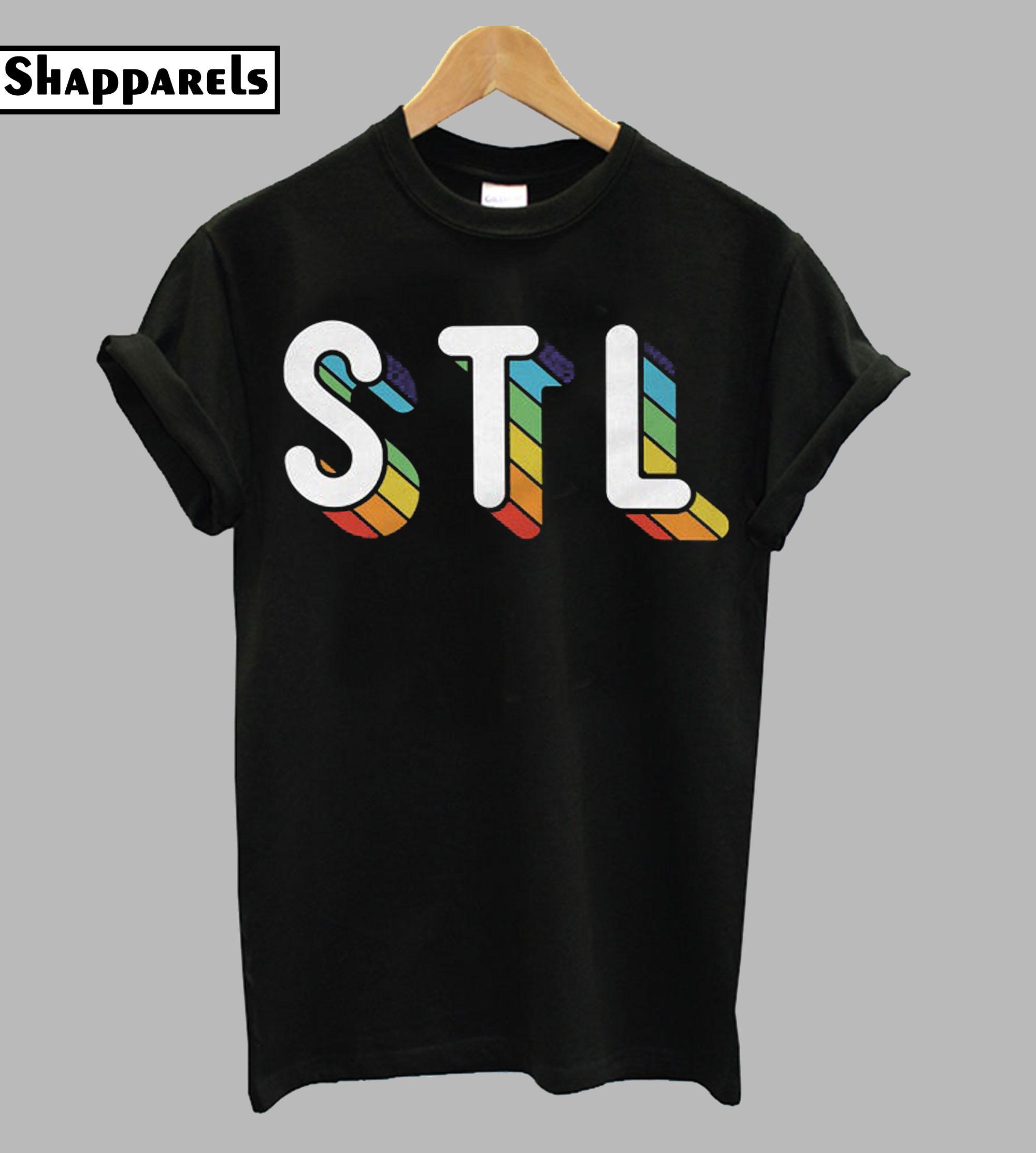 STL rainbow pride dark tshirt