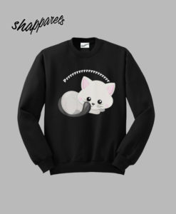 Adorable White Kitten Prrrr Sweatshirt