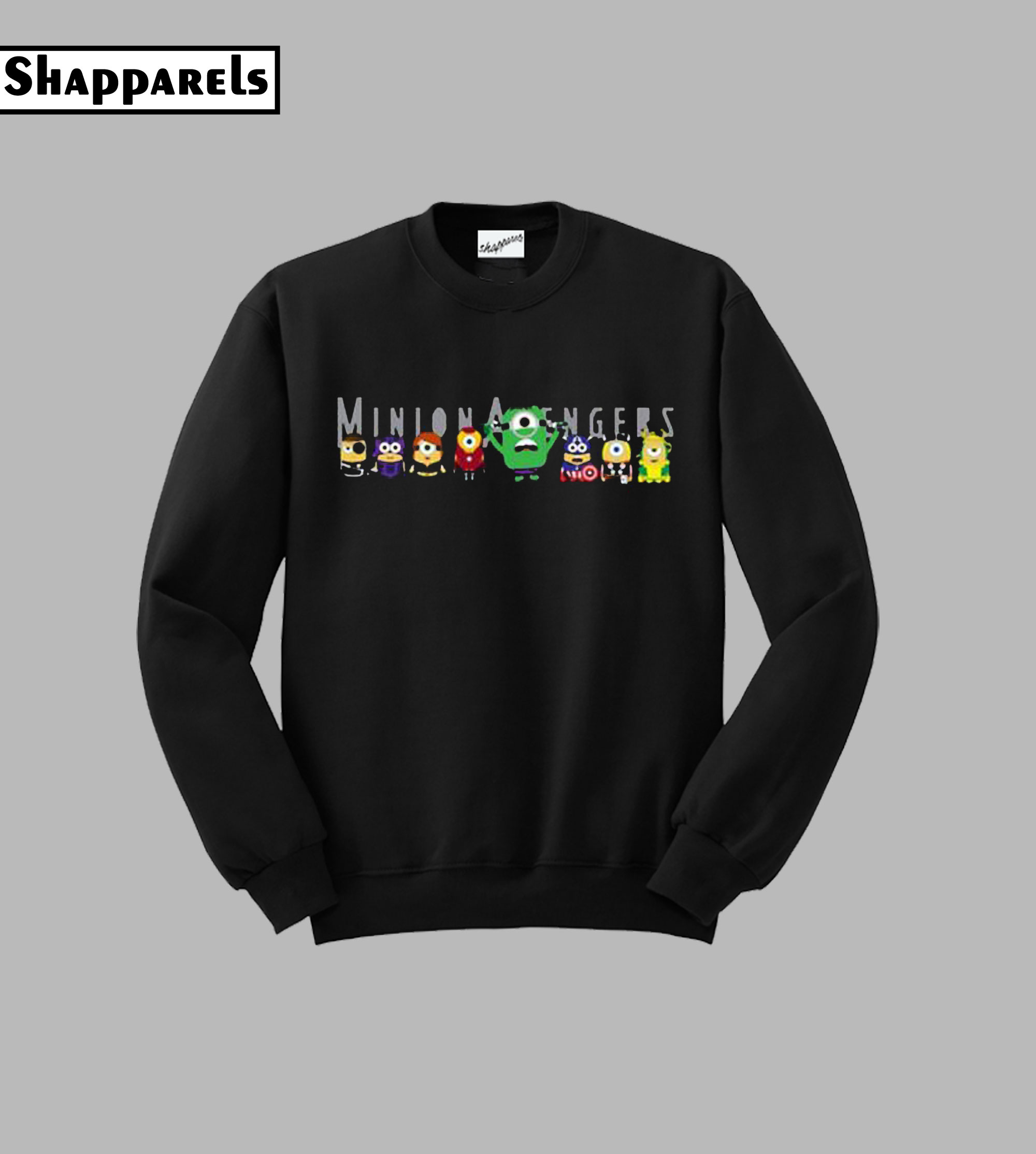 Minion Fanart Black Gang Sweatshirt