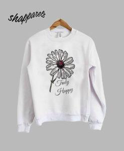 Truly Happy Daisy Floral Sweatshirt