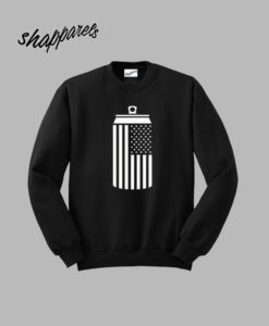 American Flag Beer Can Dring T shirt