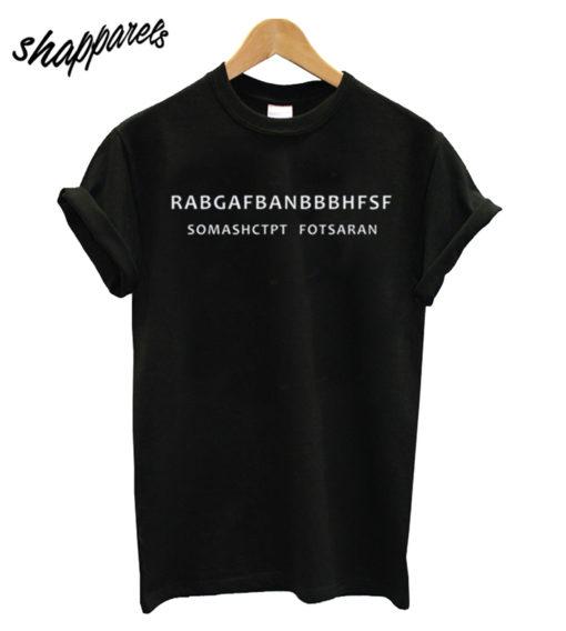 RABGAFBAN City Black Tshirt