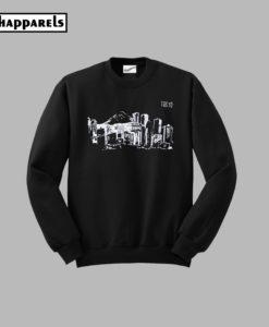 Tokyo Black Graphic Crewneck Sweatshirt
